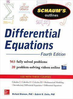 Schaum's Outline of Differential Equations 4/e