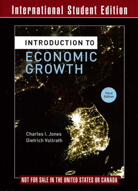 Introduction to Economic Growth 3/e