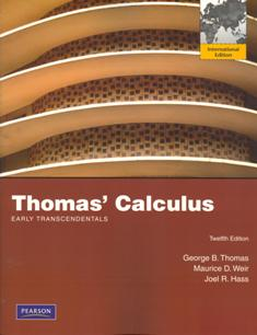 Thomas' Calculus Early Transcendentals 12/e