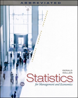 Statistics for Management and Economics, Abbreviated 10/e (H)