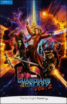 Pearson English Readers Level 4 (Intermediate): Marvel Guardians of the Galaxy vol.2 with MP3 Audio CD/1片