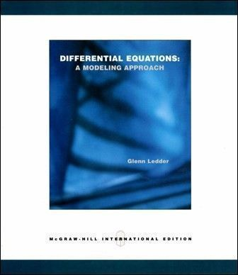 Differential Equations: A Modeling Approach