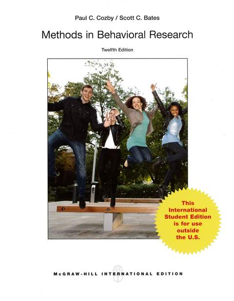 Methods in Behavioral Research 12/e