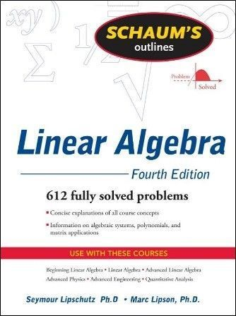 Schaum's Outline of Linear Algebra 4/e